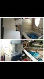 APT 02 quartos c/ armários, fogão etc - 502 Samambaia Sul