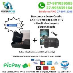 Super Combo Tv Box - Mxq Pro 4k 4gb/32gb + Mini Teclado Wireless Tv Smart SeM LED