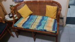 Conjunto sofá de fibra