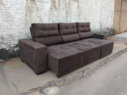 Sofá 3 mts Retrátil e reclinável