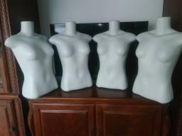 4 manequins de busto $100 os 4