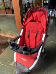 Carrinho Cosco Umbrella Deluxe Com 3 Rodas - Até 15 kg - Vermelho