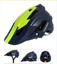 Capacete Batfox - Kingbike - Azul marinho e Verde