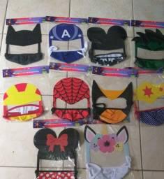 Máscaras infantil laváveis com proteção facial