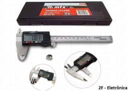 Paquímetro Digital Aço Estojo Original 150mm Precisão 0,01mm