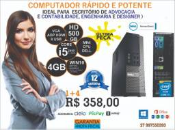 Super Dell i5 2400 3.10GHz 4GB HD500 W10 Office NFA e Garantia