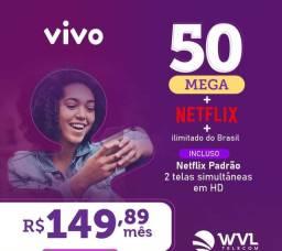 Internet fibra ótica com Netflix