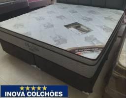 Cama box queen + colchão Pró vida Ortobom 5 anos de garantia