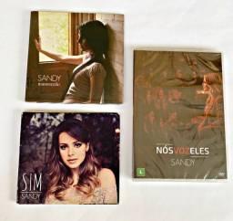 CD e DVD Sandy Sim + Manuscrito + Nós Voz Eles 4 Discos Raro