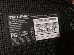 Roteador TP-Link quebra parede antena 8 dbi - 300mbps