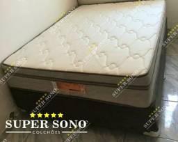 Conj Box Lotus Pelmex Casal 138x188 Mola Bonnel Prolastic A Pronta Entrega