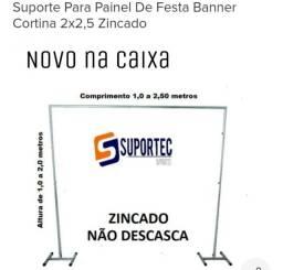 Suporte Banner Painel Cortinas novo zincado