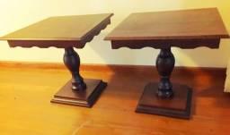 Mesas laterais em madeira