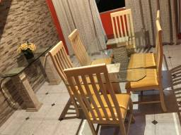 Vendo mesa 6 cadeiras + Aparador