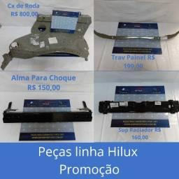 Caixa de Roda Hilux, Tavessa Painel Hilux, Alma Para Choque Hilux, Suporte Radiador Hilux