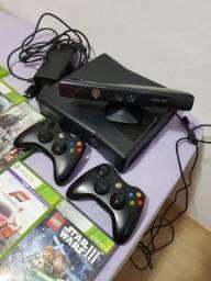 Xbox 360 Kinect dois controles 12 jogos originais