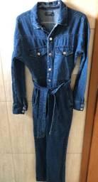 Macacão jeans novo