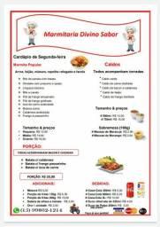 Marmitex, caldos e porções