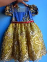 Vestido Branca de Neve Realeza Tam 1 ano