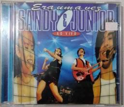 CD Sandy & Junior - Era uma vez Ao Vivo (1998) Usado