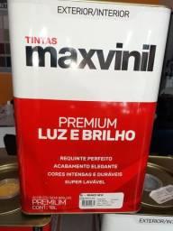 Oferta tinta semi brilho Branco 18L maxvinil na Cuiabá tintas
