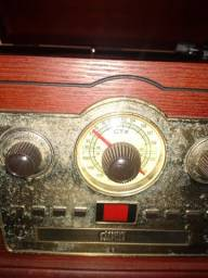 Vitrola Retrô Toca Discos, Cd, Rádio