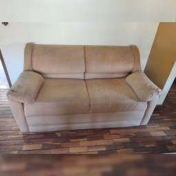 Sofá cama 2 lugares casal usado - Ver descrição