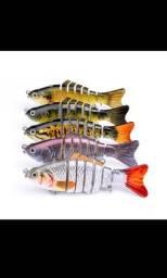 Isca artificial articuladas pesca pescaria carretilha