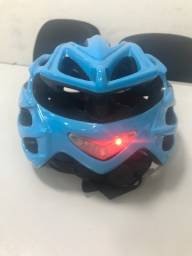 Capacete bike com led