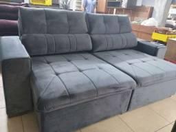 sofá retrate e reclinável novo da fábrica1700.00