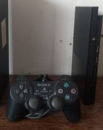 PS2 slim modelo 90006 (Matrix original)+controle original