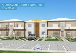 Apartamento com 3 dormitórios à venda, 115 m² por R$ 535.000 Térreo R$ 520.000 Superior -