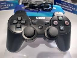 Controle PS3 sem fio Bluetooth Double shock 3 (aceito cartão e pix)
