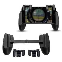 COD:0033 Kit Gatilhos Com Suporte Gamepad L1 R1 Para Celular Freefire