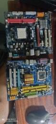Lote duas placas mãe defeito Intel e AMD