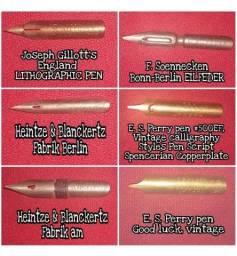 Lote com diversas Penas Vintage nanquim Caligrafia.<br>Pena caneta tinteiro