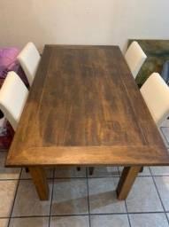 Vendo mesa jantar madeira demolição.