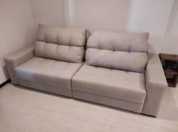 Sofá reclinável Movelaria Franco com 10 meses de uso