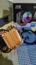 Cooler Snowman RGB 2 Fan 4 Pinos Processador