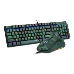 Kit Teclado e Mouse Redragon Led Rainbow, S108 Light Green - Mecânico - Loja Coimbra