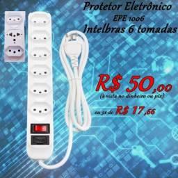 Filtro de Linha / Protetor Eletrônico Intelbras 6 Tomadas