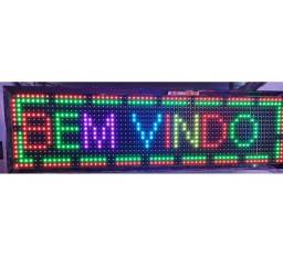 Título do anúncio: Painel LED colorido Letreiro Luminoso Digital 70x20 Alto Brilho USB