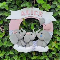 Enfeite de Porta Maternidade Elefantinha