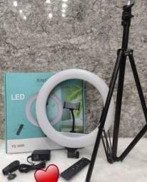 Ring Light Iluminador Anel Luz 36cm 14 Polegadas Tripé 2,1m