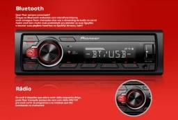 Som Automotivo Pioneer MP3 Player Rádio AM/FM - Bluetooth USB Auxiliar MVH-S218BT