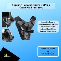 Suporte de Capacete para câmera GoPro e similares
