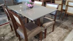 Título do anúncio: Mesa total de madeira mesa 4 lugares nova completa pronta entrega