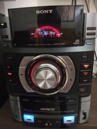 Mini System Sony MHC-GTR6H com defeito nas saídas de som
