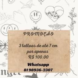 Título do anúncio: Promoção 3 tattoo por 100.00