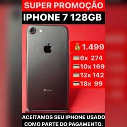 iPhone 7 128gb, aceitamos seu iPhone usado como parte do pagamento.